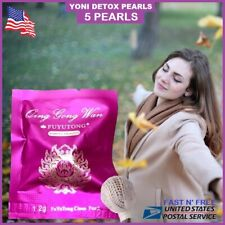 Pack 5 Yoni Detox Pearls Tampons Herbal Natural Womb Vaginal Cleansing Healing