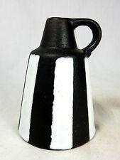 60´s design Ruscha Keramik Vase in a rare black & white glaze variation  328