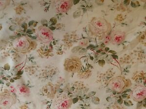 Fitted Sheet King size Ralph Lauren REPAIRED Woodstock Garden floral fabric