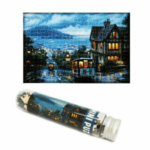 150 Pieces Mini Puzzle Jigsaw Test Tube Toy Quiet Town Kids Educational Toy Gift