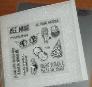 CTMH B1571WE BELONG TOGETHER ~ BEE MINE, YOU'VE STOLEN A PIZZA MY HEART,