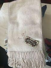 Luxury beige Alpaca wool scarf Unisexe Poison