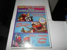 Sesame Street. Elmo's Learning Adventures.Triple Feature New Sealed DVD