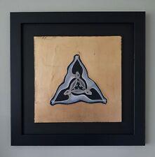 'Three Hares' - Original Artwork in Black Frame