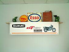 Suzuki GT750 Banner Motorcycle Workshop Garage pvc Sign classic GT 750 Kettle