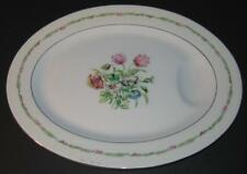 """Haviland Garden Flowers Oval Platter with drip well 14-1/2""""x11"""" floral"""
