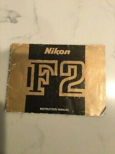 Nikon F2 Instruction Manual 31 Pages Printed 7/1972