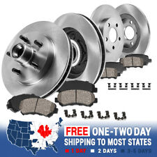 Front+Rear Rotors Ceramic Pads For 2000 2001 2002 2003 2004 Ford F150 2WD 5 Lug