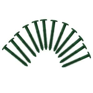 "Window Shutters Panel Peg Loks 3"" Spikes Lock Fasteners Forest Green Pack of 12"