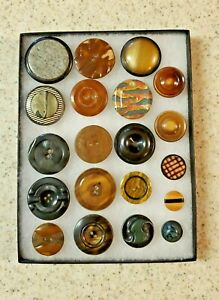 LOT SEWING BUTTONS ANTIQUE TIGHT TOP LOT 20 SPECIAL  PIECES LOT 188