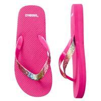 Gymboree Pink Glitter Flip Flops Size 9 10 13 1 2 3 Rainbow Sandals Girls