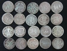 (20) 1846-1897 Love Tokens on Us and Canada 5 Cent Pieces