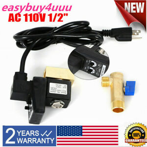 Automatic Electronic Timed Air Tank Water Moisture Drain Valve Compressor W/Plug
