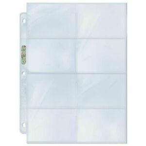 10 x Ultra PRO 8 Pocket Binder Album Pages Sleeves for Phone Cards 69 x 98mm