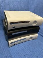 Microsoft XBOX 360 LOT BROKEN PARTS REPAIR SYSTEMS CONSOLES ( Lot of 3)