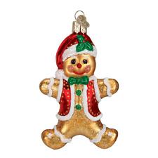 Old World Christmas Gingerbread Boy (32164)N Glass Ornament w/ Owc Box