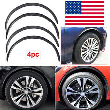 "4pc 28.7"" Car Wheel Eyebrow Carbon Fiber Arch Flares Protector Trim Lips Fender"