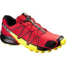 Zapatillas de deporte rojos de goma con cordones
