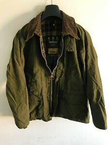 Mens Barbour Bedale wax jacket Dark Green coat 40 in size Medium / Large M/L #3