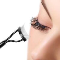 AM_ EG_ Steel Needle Eyelash Comb Lash Separator Eye Lash Brush Beauty Makeup To