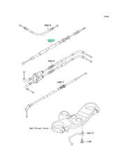 kawasaki, cable-clutch 54011-1423
