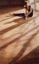 """Steve Hanks, """"In The Studio"""", open ed small framed & matted print, 15.5 x 11.5"""