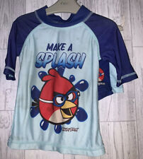 Boys Age 18-24 Months - Next Angry Birds Swimming UV Suit Top / Shorts