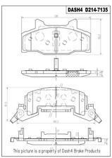 Napa TruStop D214 Semi-Metallic Brake Pads