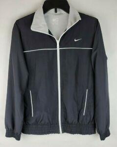 Nike Youth Medium 8 10 Black Track Windbreaker Full Zip Meshed lined Jacket