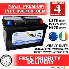 E.U. New Genuine OEM Heavy Duty Car Battery - Type 096 100 78ah 4 YEAR GUARANTEE