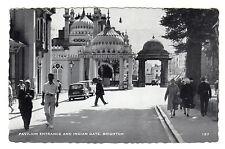 Pavilion Entrance - Brighton Real Photo Postcard 1964
