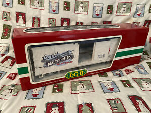 LGB Coors Golden Refrigerator Car Train No. 43720 Pure Malted Milk g scale