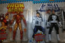 Marvel Legends 2018 NEO-CLASSIC IRON MAN & PUNISHER FIGURE Loose 6 Inch Vintage