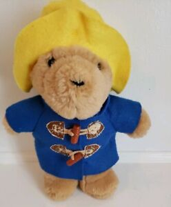 SEARS Paddington Teddy Bear- ~9.5 inch- Blue Jacket Yellow Hat