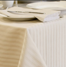 New WAM HOTEL Tablecloth 100% Cotton STRIPED LINEN SQUARE 210cm or ROUND 180cm