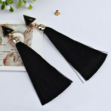 Bohemian Women Girls Popular Alloy Ethnic Ear Hanging Rope Tassel Earrings BK