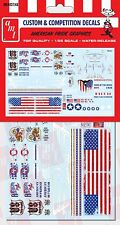 AMT 1/25 Custom & Competition Decals American Pride USA Graphics DECAL SET 027