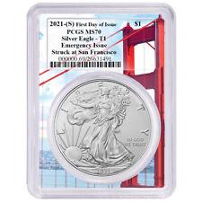Presale - 2021 (S) $1 American Silver Eagle PCGS MS70 emisión de emergencia FDOI Golde
