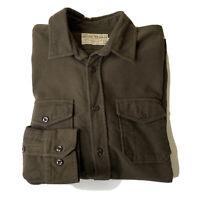Guideboat Co. Men's English British Moleskin Shirt Olive Green Size Medium EUC