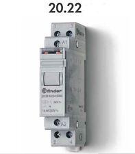 FINDER 20.22.8.012.0000 RELE MODULARE' INTERRUTTORE BIPOLARE 16A - 250V - 12VAC