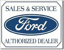 Ford Logo -Sales & Service Metal Tin Sign Wall Art