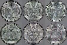 China 3 Coins: 1 Fen 1983 - 2 Fen 1987 - 5 Fen 1992 All Brilliant Uncirculated