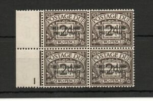 BECHUANALAND PROTECTORATE  SG D3 1926 2d POSTAGE DUE IN BLOCK OF 4 MNH