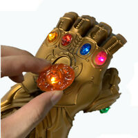 Avengers Infinity Gauntlet Thanos Infinity Gloves with Detachable 6 LED Stones