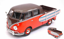 Volkswagen VW Type 2 (T1) Double Cab Pick Up Orange / Brown 1:24 Model MOTORMAX