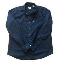 Levi's Mens Shirt Long Sleeve Black Regular Fit Cotton Size Large L