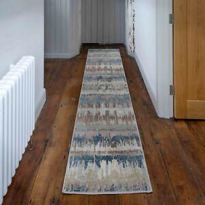 Natural Carpet Runner Mats Super Soft Muted Tone Abstract Hallway Long Rugs