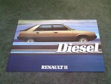 April 1984 RENAULT 11 GTD DIESEL - UK SINGLE SHEET BROCHURE