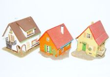 3x Faller HO 1:87 SINGLE FAMILY HOUSE - CITY HOUSES Ready Built Kit Set NM`75!