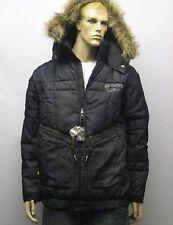 Ecko Unltd Detachable Hood Fur Denim Puffer Jacket Coat Medium